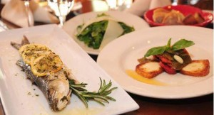 Andrea Trattoria Italiana specialty entrees including Bronzino with Lemon and Rosemary.