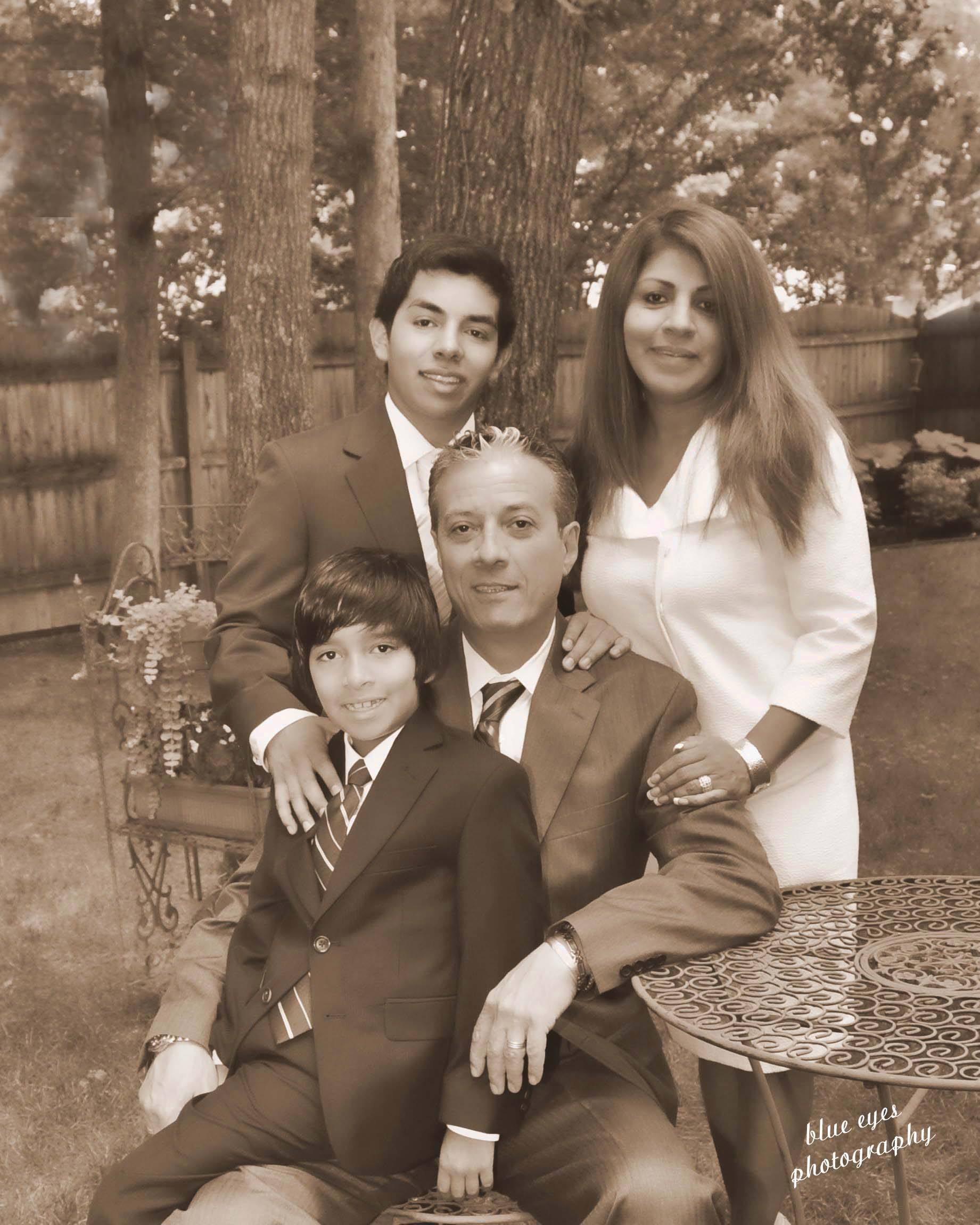 Chef Andrea Covino and his family in Millville, New Jersey.